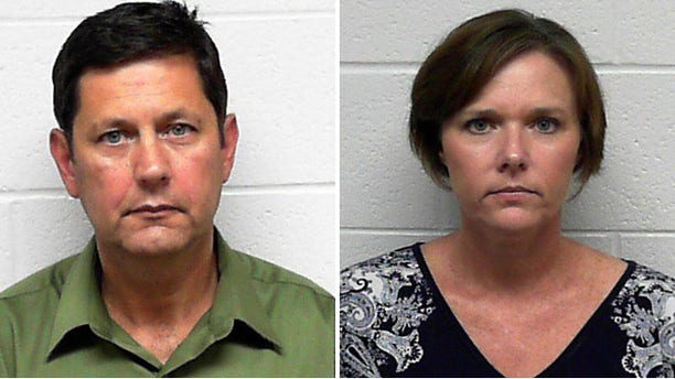 These photos, provided by the Obion County Sheriff's Department, show Edward Mallonee, left, and his alleged mistress, Shelly Moran, right. The two are accused of plotting to kill Mallonee's wife, Cathy, while she was on a church trip to Honduras.