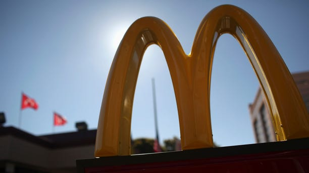 The McDonald's logo is pictured outside a McDonald's restaurant in the Fillmore District of San Francisco, California January 30, 2013. (REUTERS/Robert Galbraith)
