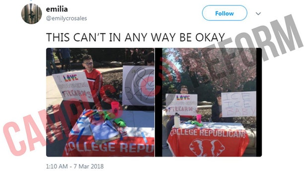College Republicans at University of California, Merced received threats, condemnation after immigration-themed tabling.