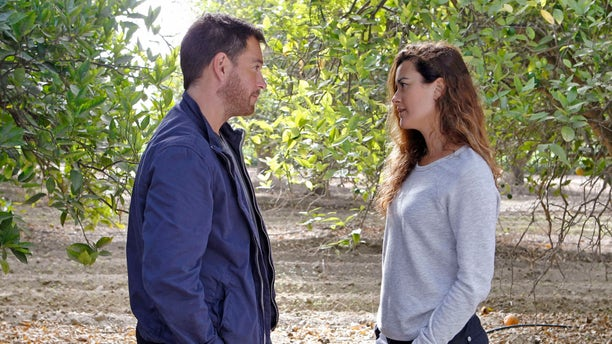 """LOS ANGELES - JULY 30: """"Past, Present & Future"""" -- Determined to locate Ziva (Cote de Pablo, right), Tony (Michael Weatherly, left) chases leads in Israel in search of her current whereabouts, on NCIS, Tuesday, Oct. 1 (8:00-9:00 PM, ET/PT) on the CBS Television Network. (Photo by Sonja Flemming/CBS via Getty Images)"""