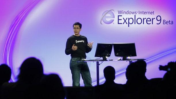 Microsoft Corp Vice President of Internet Explorer Dean Hachamovitch unveils Microsoft Internet Explorer 9 Beta version during a demonstration in San Francisco.