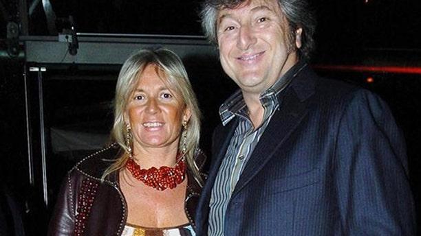 Vittorio Missoni, right, and his wife Maurizia Castiglioni smile in Milan, Italy on March 30, 2005.