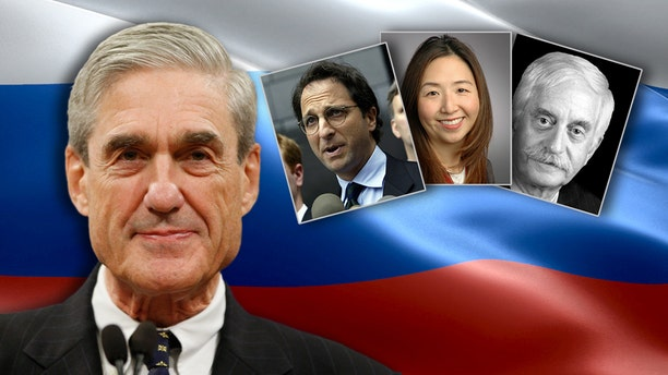 Robert Mueller's team includes investigators Andrew Weissmann, Jeannie Rhee and James Quarles (from left to right).