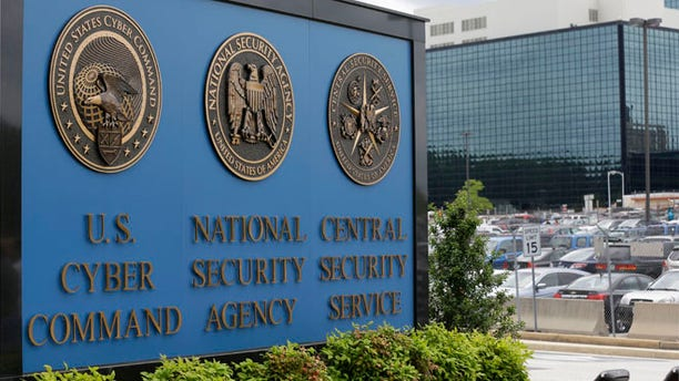 June 6, 2013 file photo shows the sign outside the National Security Agency (NSA) campus in Fort Meade, Md.