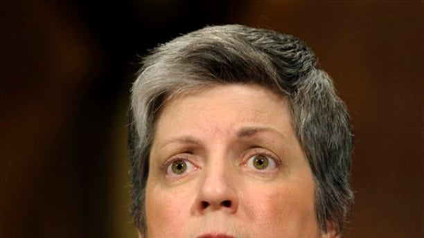 April 25, 2012:  Homeland Security Secretary Janet Napolitano testifies on Capitol Hill in Washington before the Senate Judiciary Committee hearing on the Secret Service prostitution scandal.