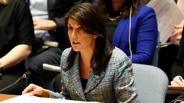 U.N. Amb. Nikki Haley was scathing in her criticism of the U.N. for failing to adopt a U.S. resolution condemning Hamas (Reuters)