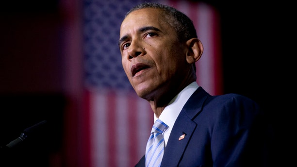 File- This Jan. 9, 2015, file photo shows President Barack Obama speaking about the France newspaper attack. President Obama wants Congress to pass legislation requiring companies to inform customers within 30 days if their data has been hacked. (AP Photo/Carolyn Kaster, File)