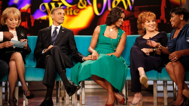 Sept. 24, 2012: President Obama and first lady Michelle Obama appear on the ABC show âThe Viewâ in New York.