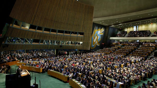 Sept. 28, 2015 - Pres. Obama speaks at the 70th session of the U.N. General Assembly at U.N. headquarters.