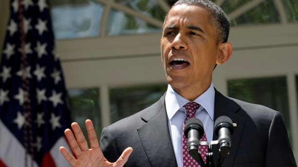 FILE - In this June 15, 2012 file photo, President Barack Obama announces his administration's immigration plans, in the Rose Garden of the White House in Washington. There's not much President Barack Obama can do to boost the economy in the next five months, and that alone might cost him the November election.  But on a range of social issues, Obama is bypassing Congress and aggressively using his executive powers to make it easier for gays to marry, women to obtain birth control, and, now, young illegal immigrants to avoid deportation. (AP Photo/Susan Walsh, File)