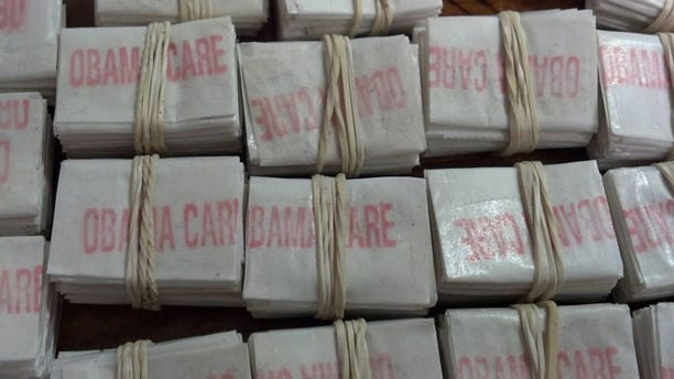 """Massachusetts state troopers pulled over a vehicle carrying 1,250 bags of heroin marked """"ObamaCare"""""""