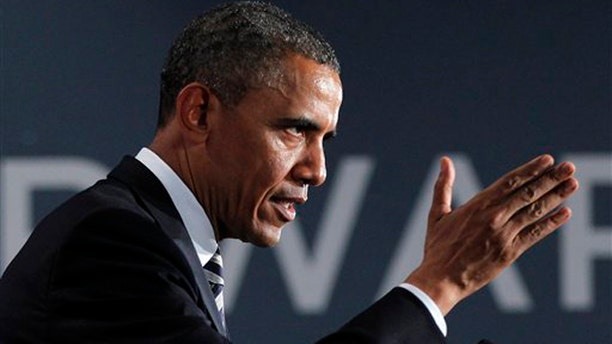 Aug., 6, 2012: President Barack Obama speaks at a campaign fundraiser in Stamford, Conn.