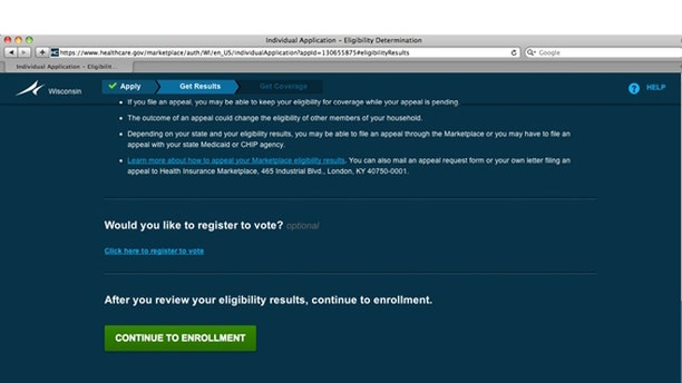 FILE: UNDATE: A frame-grab on the heathcare.gov website.