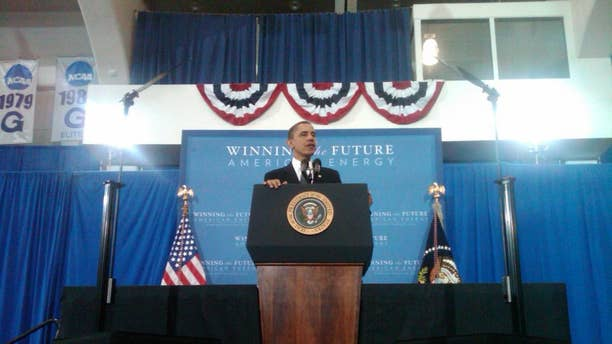 President Obama speaking Wednesday at Georgetown/Photo by Bryan Cole on behalf of Travel Pool