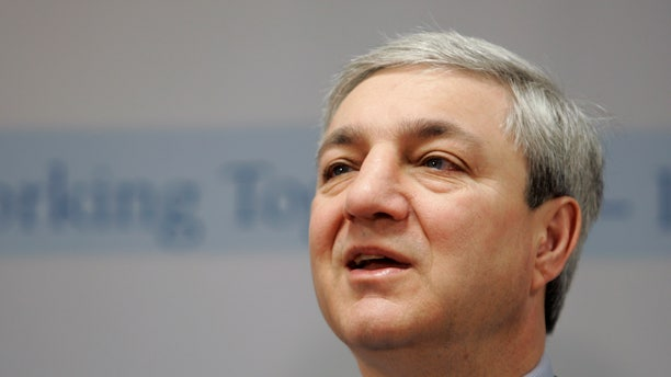 March 7, 2007 FILE photo, Penn State University President Graham Spanier.
