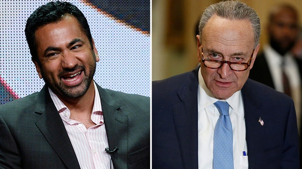 """Actor Kal Penn, a former aide in Barack Obama's White House, wants Senate Democratic Leader Chuck Schumer """"out of office"""" after the New York lawmaker delivered a pro-Israel speech in Washington this week."""
