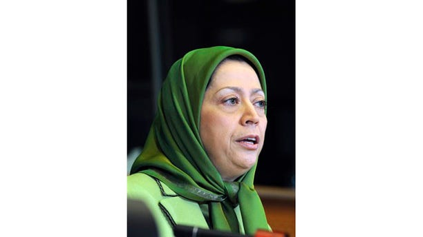 Nov. 2009:  President of the National Council of the Iranian Resistance Maryam Rajavi addresses an audience at the European Parliament in Brussels.