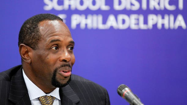 August 23: Philadelphia Interim Superintendent Leroy Nunery speaks during a media availability at the school district headquarters in Philadelphia. It took $905,000 in severance pay for former superintendent Arlene Ackerman to leave, but ethics and education experts say the true price could be much higher considering nearly half the money came from anonymous sources.