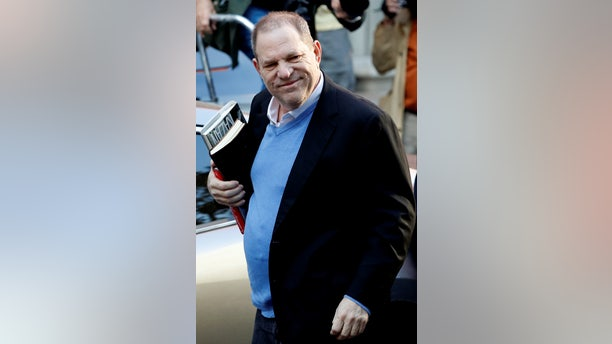 Film producer Harvey Weinstein arrives at the 1st Precinct in Manhattan in New York, U.S., May 25, 2018.