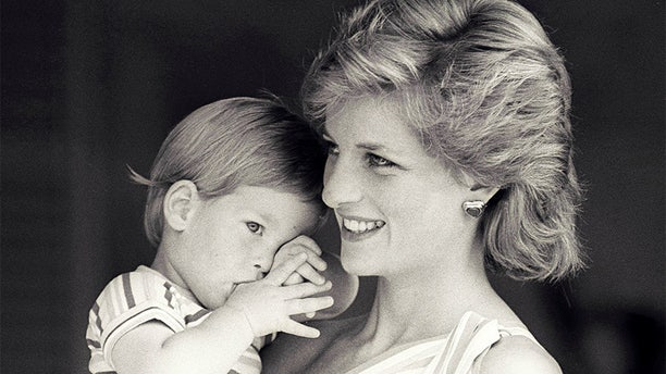 Princess Diana with her son Prince Harry.