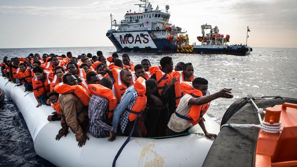 Many of the rubber dinghies and wooden ships are found by rescue crews to be filled over capacity.