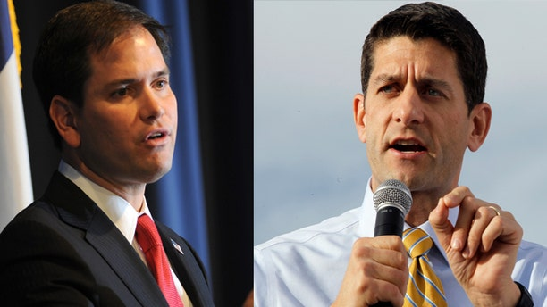 (LEFT) Sen. Marco Rubo (R-FL) and (RIGHT) Rep. Paul Ryan (WI).