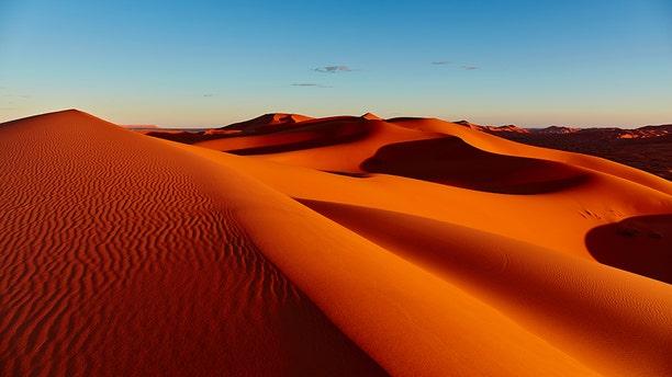 Sand dunes in the Sahara Desert, Merzouga, Morocco.  (Credit: iStock)
