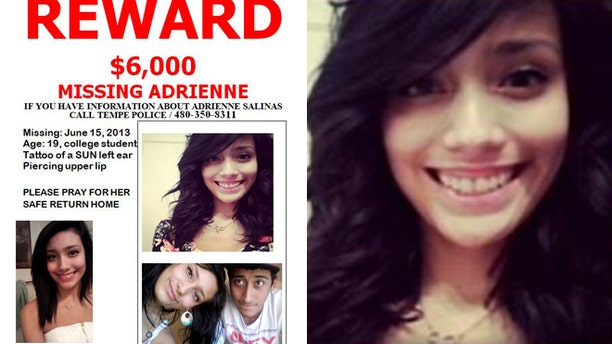Adrienne Salinas has been missing since the early  hours of June 15 after failing to show up for a cab she had ordered.