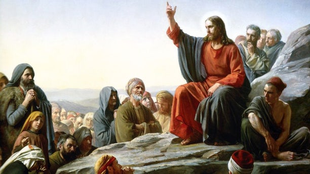 An 1890 painting of the Sermon on the Mount by Carl Bloch.