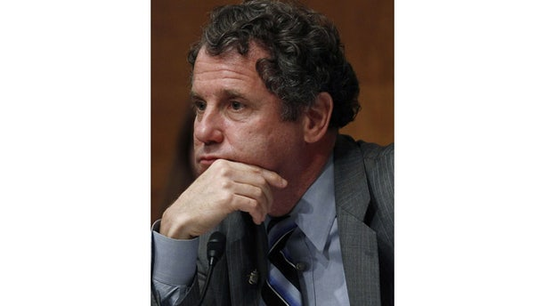 June 15, 2011: U.S. Senate Banking Subcommittee Chairman Sen. Sherrod Brown, D-Ohio, listens to a testimony during a hearing on banks and the financial crisis on Capitol Hill in Washington, June 15, 2011. (File/Reuters)