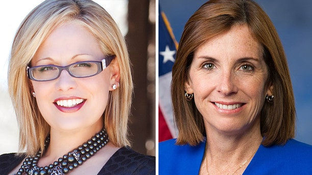 Democrat Kyrsten Sinema is narrowly ahead of Republican Martha McSally in the Arizona Senate race, according to a Fox News Poll.