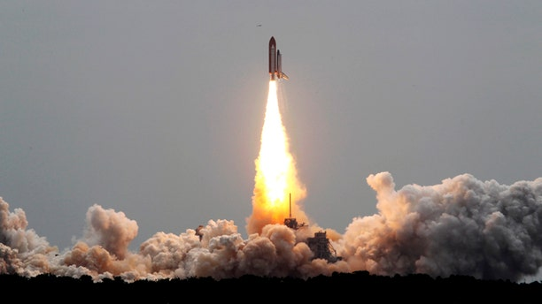 The space shuttle Atlantis lifts off from the Kennedy Space Center Friday, July 8, 2011, in Cape Canaveral, Fla. Atlantis is the 135th and final space shuttle launch for NASA.