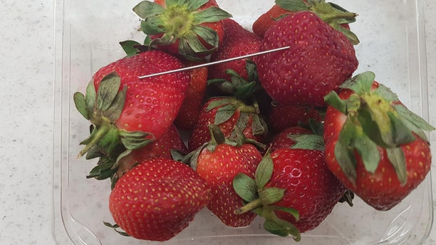 """Queensland police in Australia issued a photo of a batch of """"contaminated strawberries"""" in connection to what they said they believe is a """"copycat incident."""""""