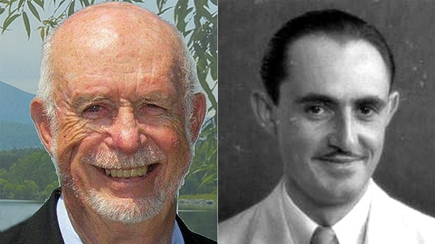 Author and lawyer Stuart McKeever, left, is seeking secret grand jury witness testimony related to the disappearance of Columbia University Professor Jesus de Galindez, right, in 1956.