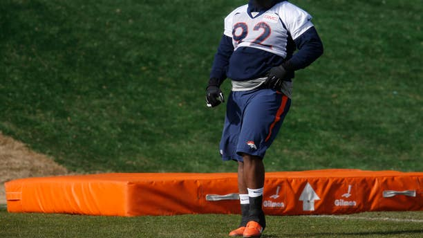 "The Denver Broncos' ""obese"" nose tackle Sylvester Williams. The entire team wouldn't qualify as 'healthy' under current guidelines."