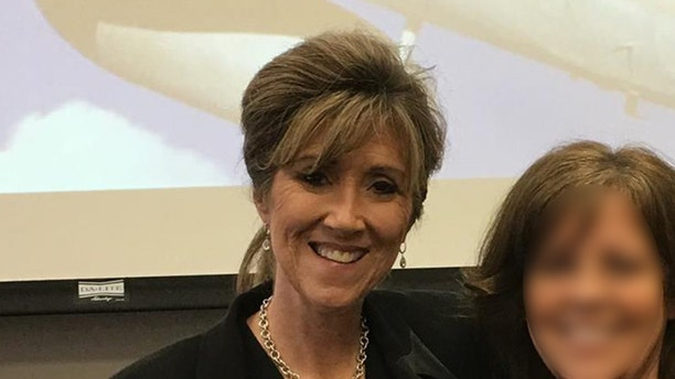 Southwest pilot Tammie Jo Shults, left, pictured at her alma mater MidAmerica Nazarene where she graduated in 1983. Shults was praised for landing the Dallas-bound Flight 1380 Tuesday after one of its engines blew mid-air at 32,000 feet.  (MidAmerica Nazarene)