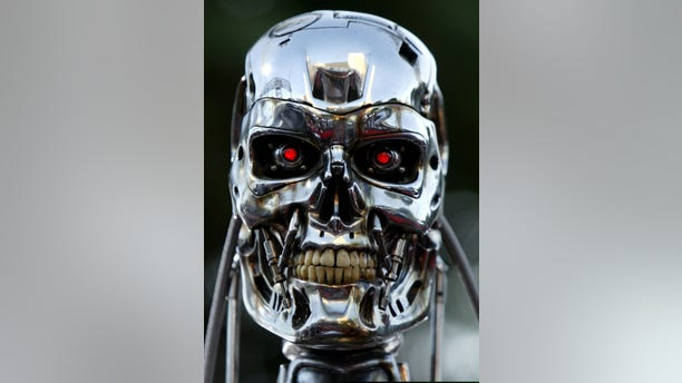 """File photo - A robot from the movie is on display for the premiere of the motion picture Terminator 3 """"Rise of the Machines."""" (Mike Blake/Reuters)"""