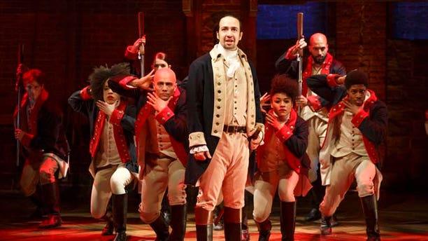 "Lin-Manuel Miranda during a performance of ""Hamilton,"" in New York."