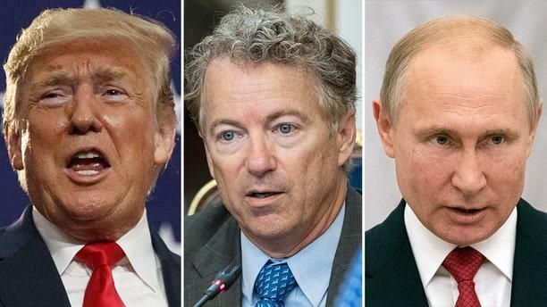 President Trump, Sen. Rand Paul, and Russian President Vladimir Putin