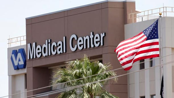 This photo from Saturday, May 17, 2014 shows the Department of Veterans Affairs in Phoenix.