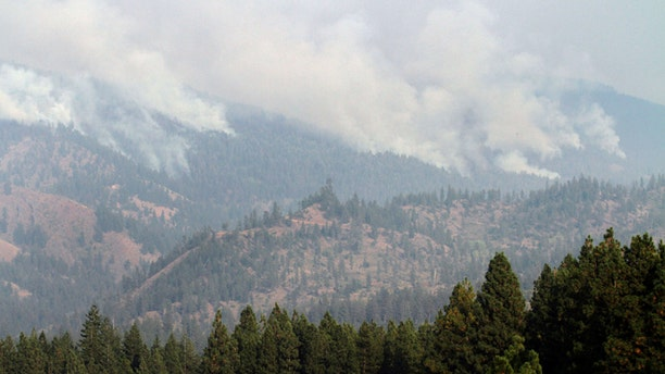 Sept. 20, 2012: The Table Mountain Complex Fire, viewed from near Cle-Elum, Wash., continues to burn.