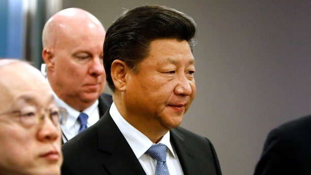 Sept. 28, 2015- China's President Xi Jinping arrives for the 70th session of the UN General Assembly at UN headquarters.