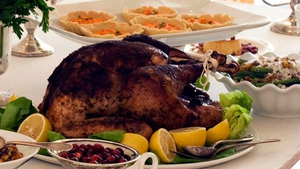 October 22, 2012: A gourmet Thanksgiving dinner.