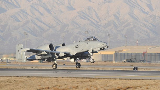 An U.S. Air Force A-10 Warthog takes off on a mission at dawn from Bagram Air Field, Afghanistan, Feb. 11, 2014.