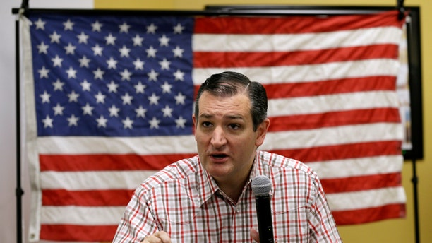 """Republican presidential candidate, Sen. Ted Cruz, R-Texas, speaks during a """"Celebrate the 2nd Amendment Event,"""" Saturday, June 20, 2015, at the CrossRoads Shooting Sports in Johnston, Iowa. (AP Photo/Charlie Neibergall)"""