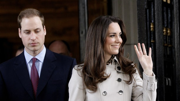 March 8, 2011: Britain's Prince William and his fiance Kate Middleton leave City Hall in Belfast, Northern Ireland.