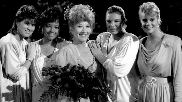 """Kim Fields (left) with her """"Facts of Life"""" cast mates."""