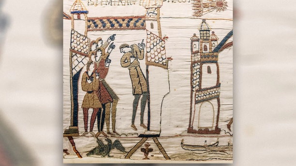 The Bayeux Tapestry features a depiction of the 1066 Halley's Comet. (Credit: Myrabella/CC by 1.0)
