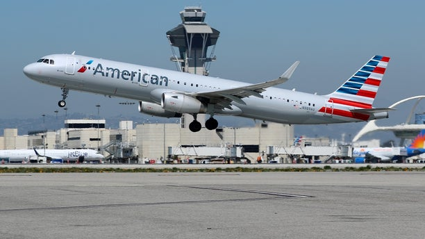 A New York-Los Angeles American Airlines flight struck an object shortly after departure and was forced to return to New York Wednesday night, officials said.