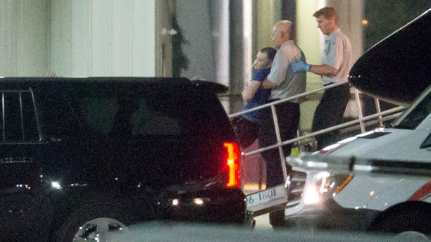 Otto Warmbier, a 22-year-old college student detained and imprisoned in North Korea, is carried off of an airplane at Lunken Airport in Cincinnati on Tuesday, June 13, 2017.